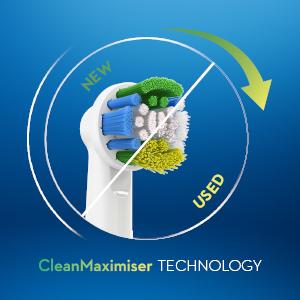 Tecnologia delle setole CleanMaximiser*