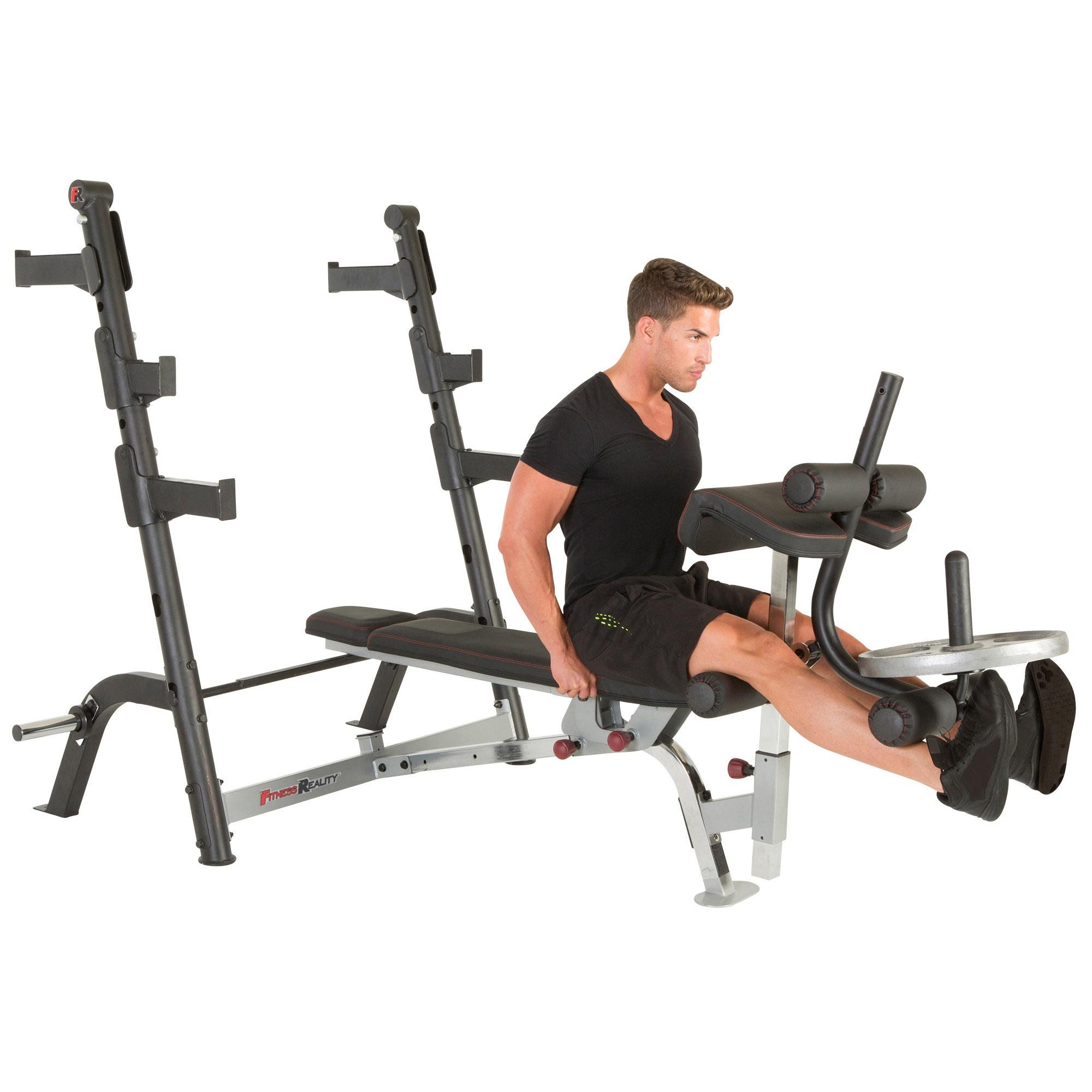 Fitness Reality X Class Olympic Weight Bench With Olympic Preacher Curl Leg