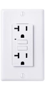 faith gfci outlet white GLS-20A-WH-10 GLS-20A-WH gfi receptacle