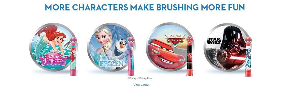 More characters make brushing more fun