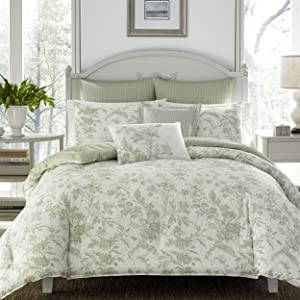 floral bedding;green bedding;comforter set;green comforter set