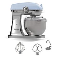 Schneider Consumer - Robot de cocina Vintage - SCFP57, Amasadora para Repostería, Diseño Retro, 1500W, Kit de Accesorios, Movimiento Planetario, Recipiente de Acero Inoxidable, Azul: Amazon.es: Hogar