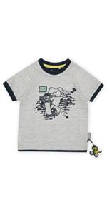 Camiseta de verano para niños pequeños, primavera, cómoda, para guardería, multiusos, azul y blanco