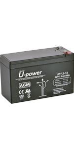 Bateria Plomo AGM 7.2Ah 12V