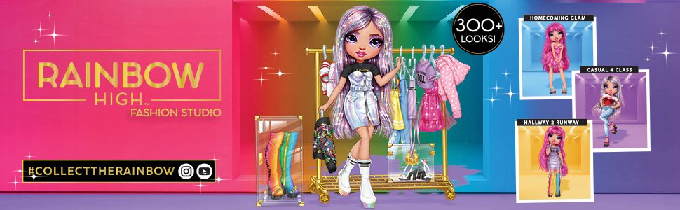 Read more about the article Rainbow High Fashion Studio – Exclusive Doll with Rainbow of Fashions (Clothes and Accessories) and 2 Sparkly Wigs to Create 300+ Looks (Toy)