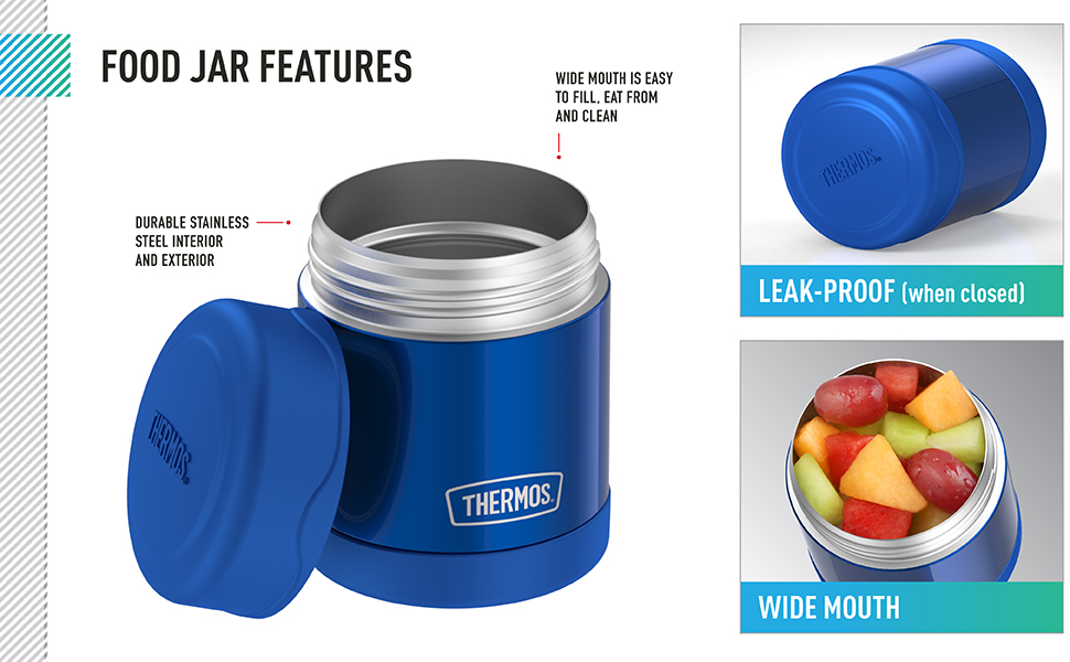 Thermos brand Food Jar features