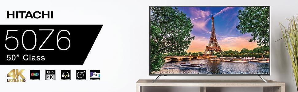"""50Z6 Hitachi 50"""" 4K TV"""