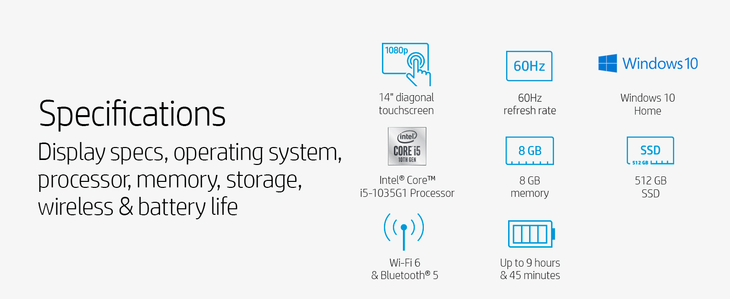display touch touchscreen 10th gen generation intel core i5 8 gb ram sdram ddr4 512 ssd