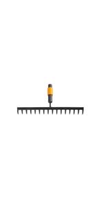 Fiskars Rastrillo de 16 dientes, Largo: 40 cm, Negro/Naranja ...