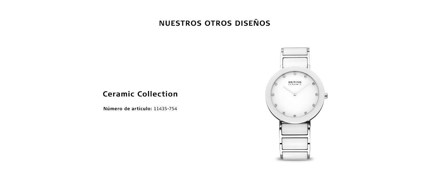 Relojes Bering  Relojes Cristal de zafiro Relojes  Bering Skagen Clásico Cuarzo Acero inoxidable