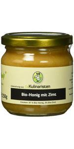 Die Kulinaristen Bio-Honig mit Zimt im 250g oder 500g Glas