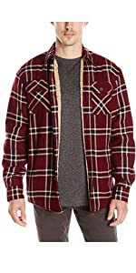 Wrangler Authentics Long Sleeve Sherpa Lined Flannel Shirt Jacket