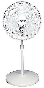 stand fan 16 inch, household fan, home fan, stand fan, pedestal fan, oscillating, white fan