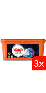 Robijn Black Velvet 3-in-1 Capsules voordeelverpakking voor zwarte was, halfjaar voorraad wasmiddel
