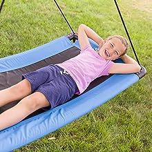 SkyCurve Hanging Platform Rope Tree Swing Multiple Children Weather Resistant outdoor indoor kid