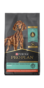 Purina Pro Plan Sensitive Skin and Stomach dry puppy food bag