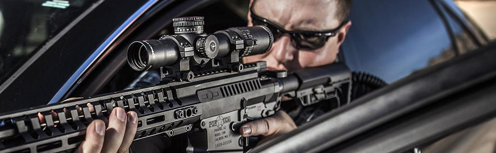 Trijicon AccuPower 1-8x28 Riflescope, 3 Gun Scope