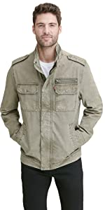 Washed Cotton Two Pocket Military Jacket