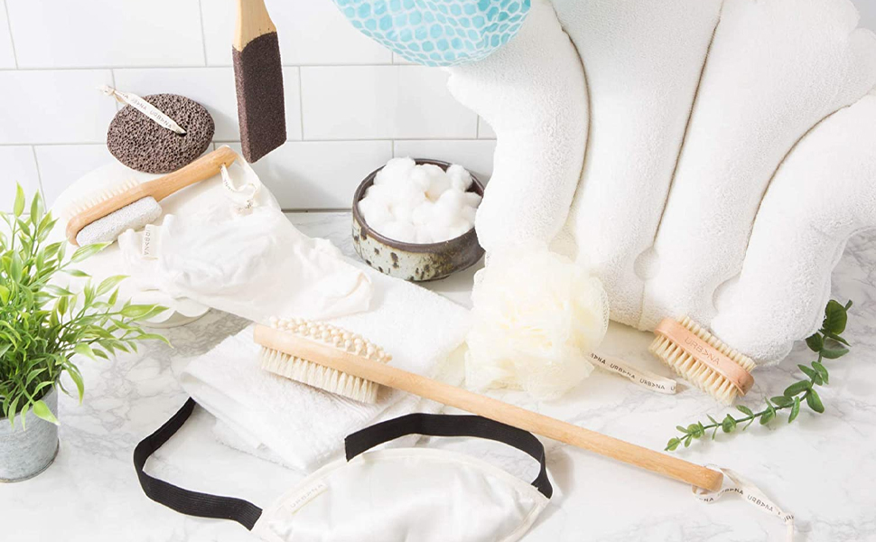 home spa, bath pillow, bathing, exfoliation, eye mask, relaxation, self care, skincare, tub, women