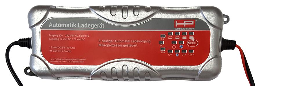 Hp Autozubehör 20514 Batterieladegerät Smart 6 12 V Auto