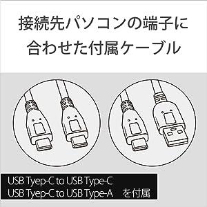 USBケーブル 付属