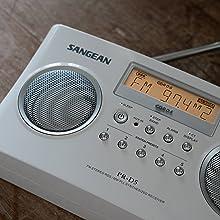 PR-D5, SANGEAN, Sangean, am, fm, radio, portable, black, digital tuning