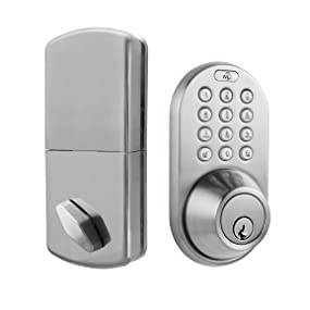 Milocks Qf 02sn Keyless Entry Deadbolt Door Lock With