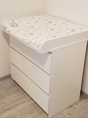 perezoso Kids – Cambiador ufsatz para Ikea kommoden Cómoda, con una anchura de 30 – 51 cm madera color blanco