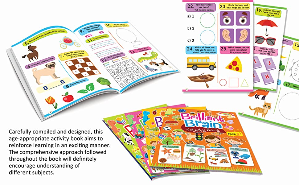 Activity Books, Brilliant Brain, dreamland Publications, Early Learning