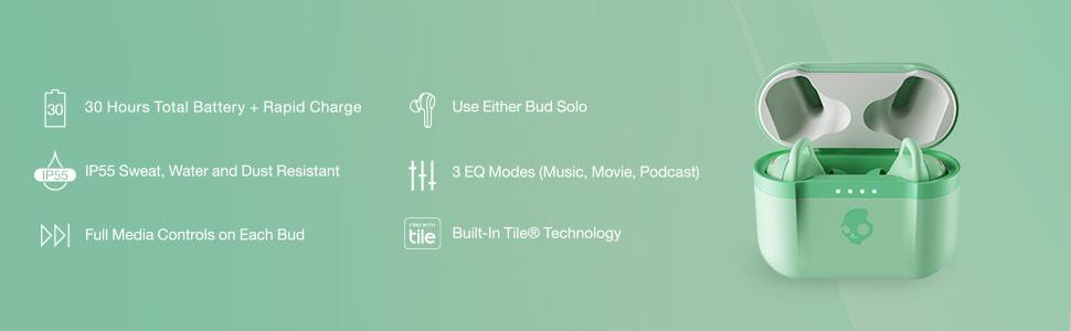 Skullcandy Indy Evo True Wireless In-Ear - Pure Mint
