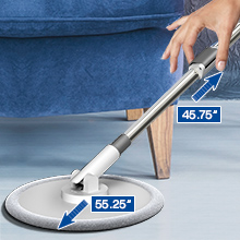 iMop spin mop with adjustable telescopic mop handle