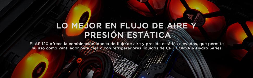 Corsair AF120, Air Series LED - Paquete de 3 Ventiladores de refrigeración silencioso de 120 mm, Color Rojo: Amazon ...