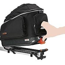 Amazon Com Ibera Pakrak Bicycle Seat Post Commuter Rack