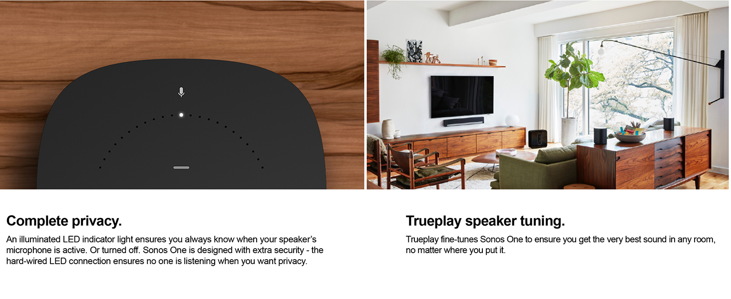 All New Sonos One The Smart Speaker For Music Lovers Wiring House Sound Trueplay
