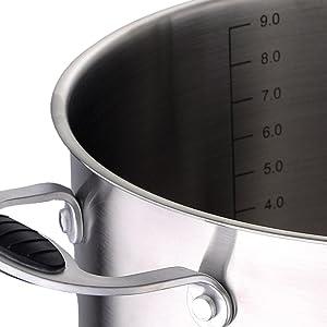 MasterPro Wok 28x8 cm Aluminio prensado Apta para inducción Gravity, Negro