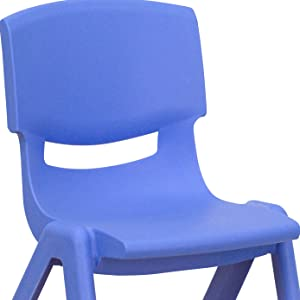 Amazon.com: Flash Furniture, silla apilable de plá ...