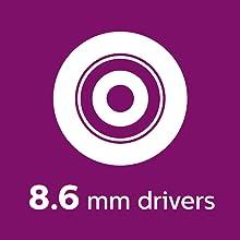 Philips UpBeat SHB3959WT 8.6mm drivers