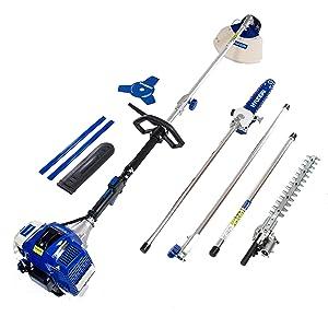 Hyundai HY-HYMT5080 Kit multifunción 4 en 1 jardinería, 1560 W, 0 V, Azul-blanco, 107x28x30 cm: Amazon.es: Bricolaje y herramientas