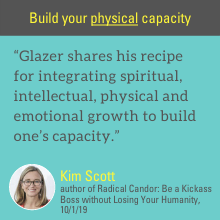 Glazer shares his recipe for integrating spiritual, intellectual, physical and emotional growth