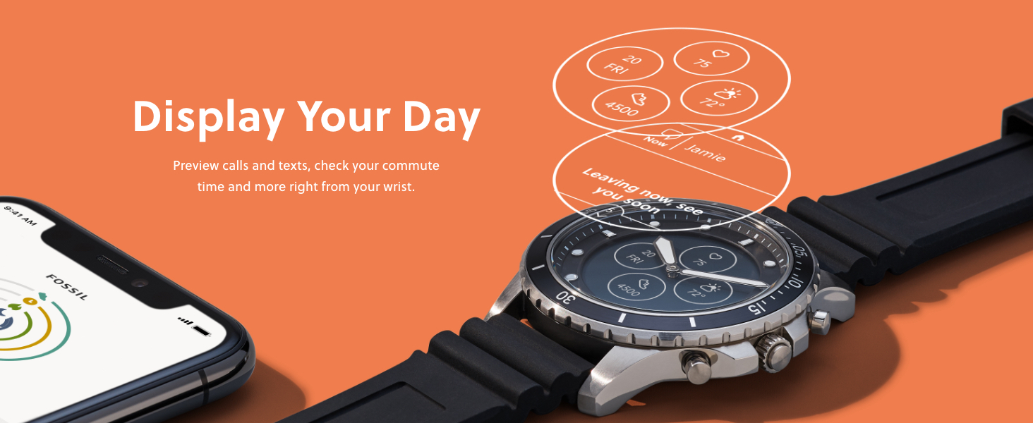 Fossil Hybrid Display your day