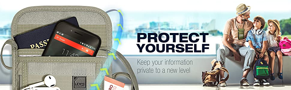 passport wallet secure rfid safety security belt money belt neck undershirt under shirt hidden
