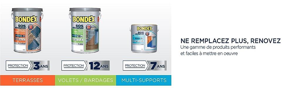 Bondex Lasure Très Haute Protection Siliuréthane 8 Ans Protège Et Décore La Surface Des Bois Bruts Satin
