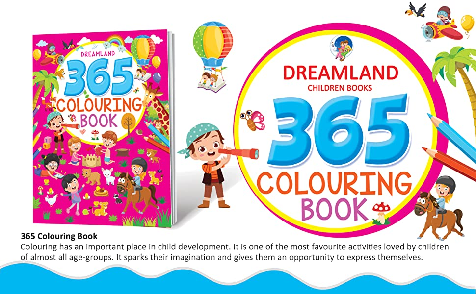 Colouring books, activity books, games, activities