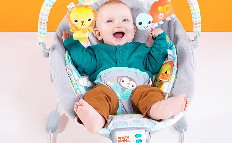 Marvelous Bright Starts Whimsical Wild Cradling Bouncer Seat With Soothing Vibration Melodies Pabps2019 Chair Design Images Pabps2019Com