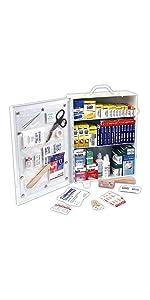 Rapid Care First Aid 80094 3 Shelf OSHA/ANSI First Aid Cabinet