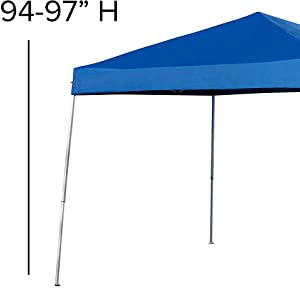 Outdoor Pop Up Event Slanted Leg Canopy Tent with Carry Bag