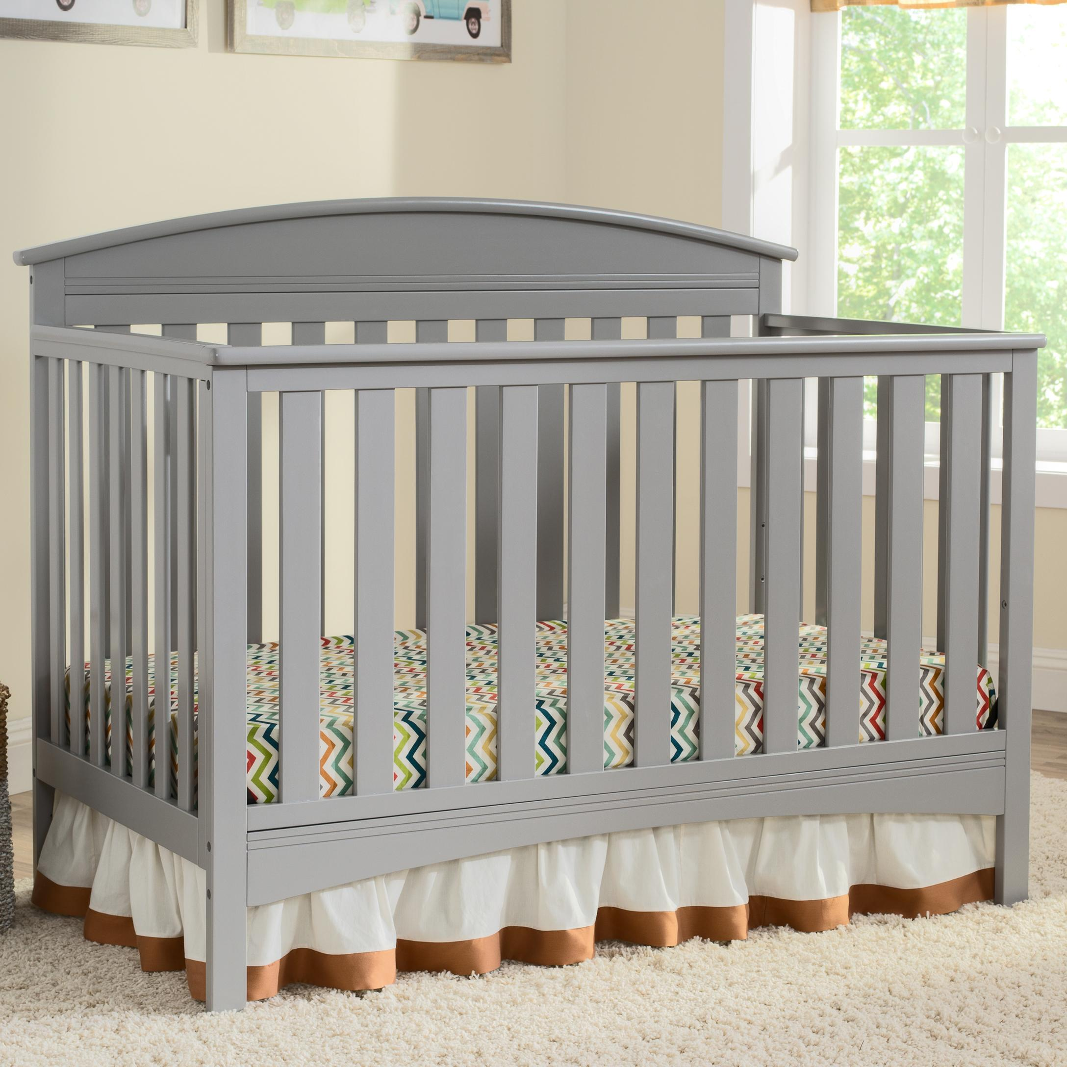 Amazon.com : Delta Children Abby 4-in-1 Convertible Crib ...