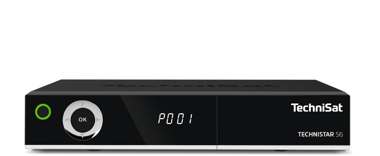 TechniSat TECHNISTAR S6 - HDTV Satelliten-Receiver (DVB-S/S2, HD-Receiver,  PVR Aufnahmefunktion und Timeshift, HDMI, CI+ Schnittstelle, App-Steuerung,  USB, Unicable tauglich, Serientimer) schwarz: Amazon.de: Heimkino, TV &  Video