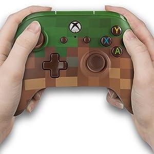 Mando inalámbrico para Xbox One de PowerA: Minecraft Grass Block: Amazon.es: Videojuegos
