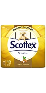... Papel higiénico Scottex Sensitive 18 rollos